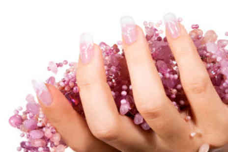 Alter Ego - Full set of Acrylic Glitter or French Gel Tips with Nail Gems - Save 58%