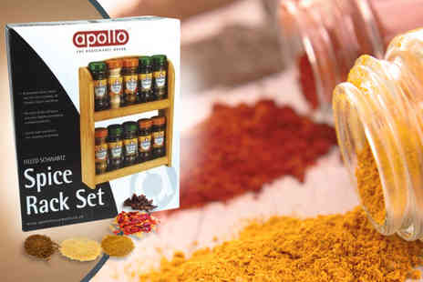 Your Spares - A 2 tier Apollo spice rack with 10 Schwartz spices - Save 66%