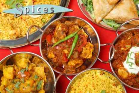 7 Spices - Two Course Indian Meal For Two With Wine Plus Rice or Naan and Poppadoms - Save 61%