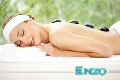Enzo Beauty - One Hour Hot Stone or Swedish Massage or Facial - Save 63%