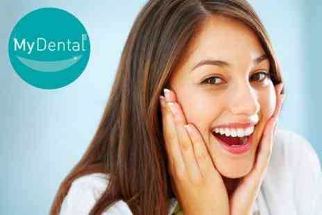 My Dental - 'Six Month Smiles' Clear Dental Braces For Top or Bottom Arch - Save 53%