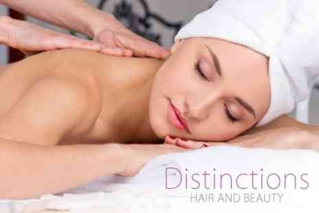 Distinctions Hair - Choice of Two Treatments Such as Massage, Manicure and Mini Facial - Save 55%