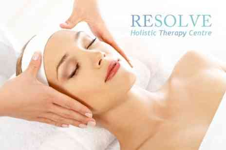 Resolve Holistic Therapy Centre - Indian Head Massage Plus Facial - Save 50%