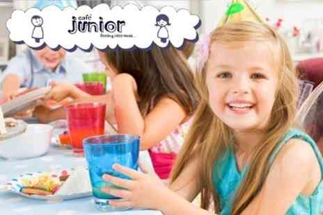 Cafe Junior - Party For Ten Children With Play Area Access, Party Food and Bubble Machine - Save 61%