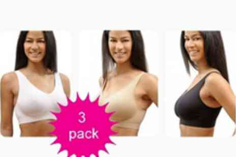 "Wauw Bra - £32.90 instead of £89.95 for a pack of 3 Wauw Bras â€"" say goodbye to rubbing, chafing and uncomfortable bras - Save 63%"