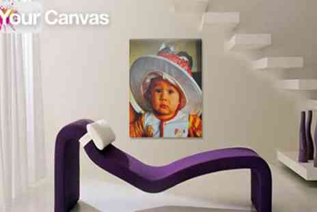 Your Canvas - Create lasting memories with an 80cm x 60cm Personalised Photo Canvas- only £29! (£82.50 value) - Save 65%