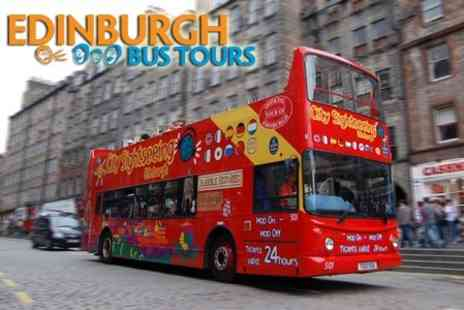 Edinburgh Bus Tours - Two Adult Grand Bus Tour Tickets for £14 - Save 56%