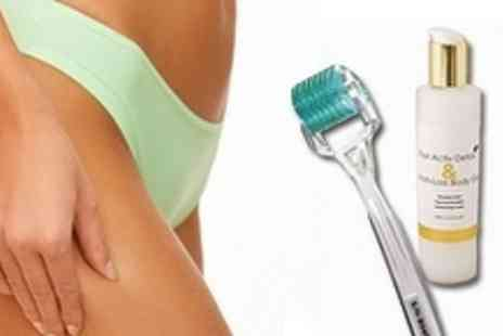 Enhance Beauty Clinic - Cellulite Reducing Derma Roller with Fast Active Inch Loss Gel - Save 73%