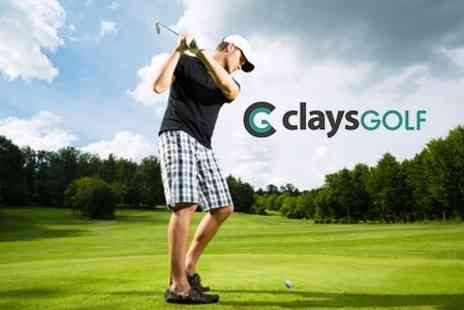 Clays Golf - Day of Golf Plus Meal and Drink Each - Save 81%