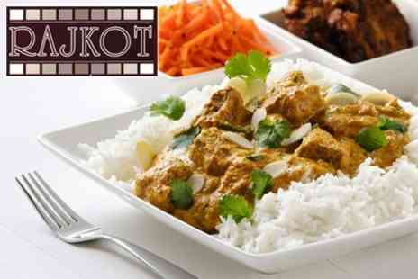 Rajkot Indian Restaurant - Indian Meal Two Courses For Two With Rice And Naan Each - Save 59%