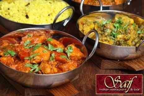 Saif Indian Restaurant - Two Course Indian Meal For Two - Save 52%