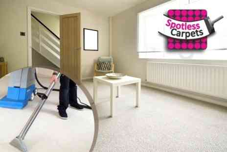 Spotless Cleaning - Carpet Cleaning For Two Rooms, Stairs and Hall - Save 67%