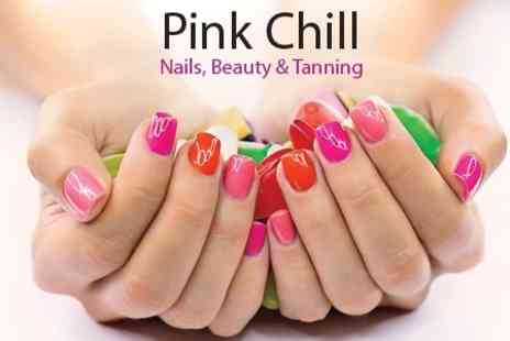 Pink Chill - Shellac or Gelish Nails For Hands and Feet - Save 50%