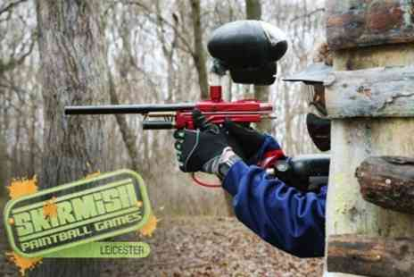 Skirmish Paintball - Full Day For Five or Ten With 100 Balls Each - Save 78%