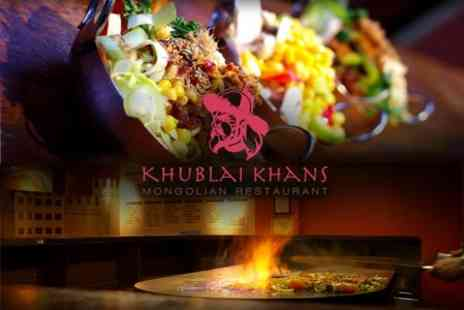 Khublai Khan - Three Course Mongolian Barbeque For Two - Save 47%