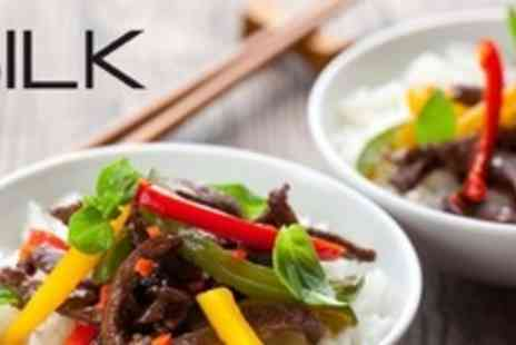 Silk Restaurant - Three Course Asian Fusion A La Carte Meal For Two With Champagne Cocktail Each - Save 59%