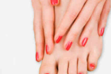 Heaven Beauty @ Hair Co - Gel manicure and pedicure  - Save 72%
