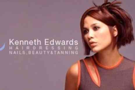 Kenneth Edwards Hairdressing - Half Head of Highlights or Full Head of Colour With Head Massage and Colour Penetrating Mask - Save 69%