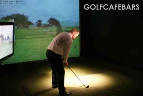 Golf Cafe Bar - Two Hour Golf Simulator Experience For Up To Eight People only £19 - Save 68%