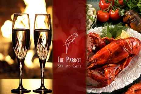 Parrot Bar and Grill - Lobster With Champagne Cocktail For Two - Save 61%