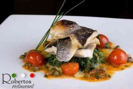 Robertos Restaurant - Two Course Italian Meal For Two - Save 59%