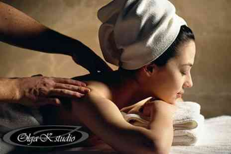 Olga K Studio - One Hour Full Body Swedish or Aromatherapy Massage - Save 58%