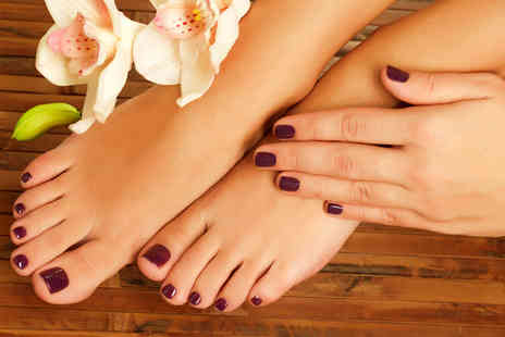 Oasis Beauty Salon - 90 minute manicure and pedicure - Save 67%