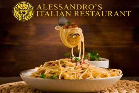 Alessandros Italian Restaurant - Two Course Meal For Two With Glass of Prosecco Each - Save 59%