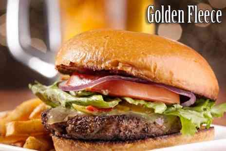 The Golden Fleece - Gourmet Burger and Beer For Two - Save 59%