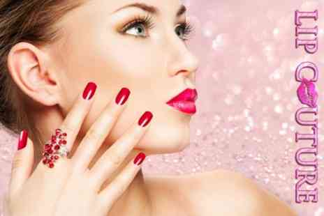 Lip Couture - Shellac Manicure or Pedicure - Save 50%