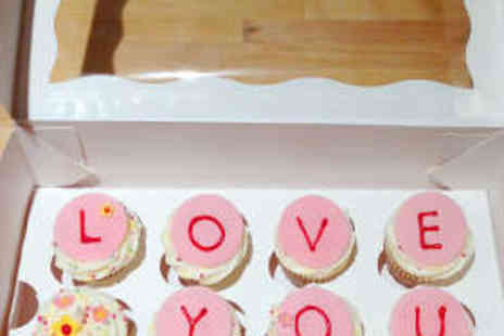 Trixabelle Bakery - 12 Mini Love You Mum Cupcakes with Delivery - Save 53%