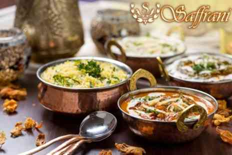 Saffrani - Two Course Indian Meal For Two - Save 61%