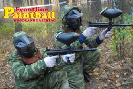 Frontline Paintball - Paintballing For Two - Save 82%