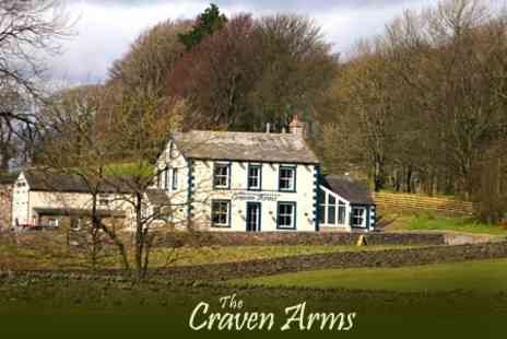 The Craven Arms - In Yorkshire Dales One Night Stay For Two With Breakfast - Save 49%