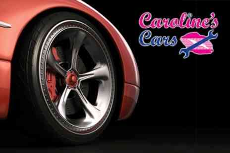Carolines Cars - 50 Point Car Service With Wheel Alignment and Courtesy Car - Save 70%