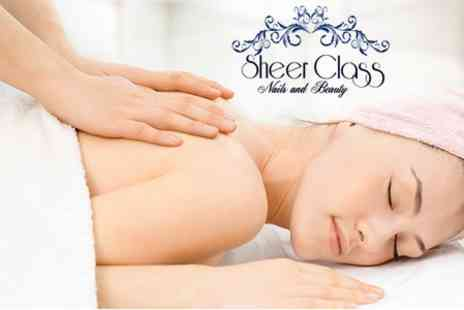 Sheer Class Nails - Luxury Facial With Massage - Save 50%