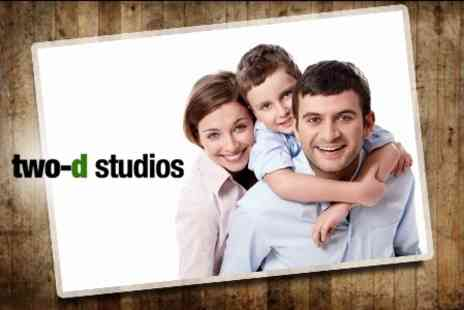 Two D Studios - Family Photoshoot With Three Prints Plus Five Digital Images - Save 86%