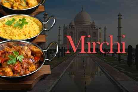 Mirchi - Two Course Indian Meal For Two With Poppadoms - Save 53%