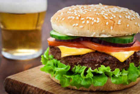The Grill on the hill - Homemade Burger with Either a Pint or a Glass of Wine - Save 50%