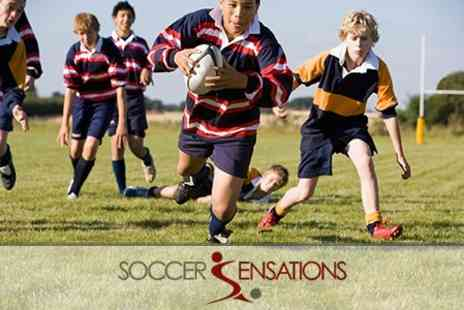 Soccer Sensations - Childrens Rugby Party Themed Match For Ten Kids With Food and Drink - Save 66%