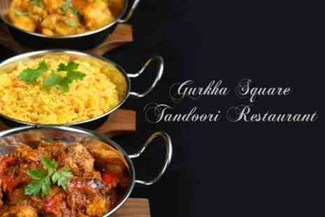 Gurkha Square Tandoori Restaurant - Two Course Indian Meal For Two With Sides and Wine - Save 63%