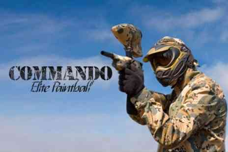 Commando Elite Paintball - Paintballing For One With 100 Pellets Each and Lunch - Save 83%