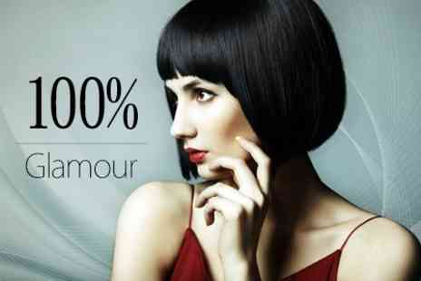 100% Glamour - Cut and Blow Dry With Either Conditioning Treatment - Save 51%