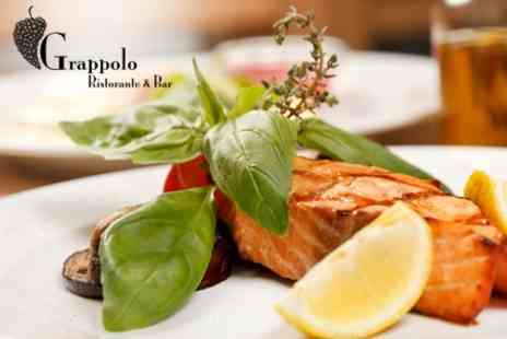 Grappolo Restaurant - Italian Three Course Meal With Bottle of Wine and Cappuccinos For Two - Save 0%