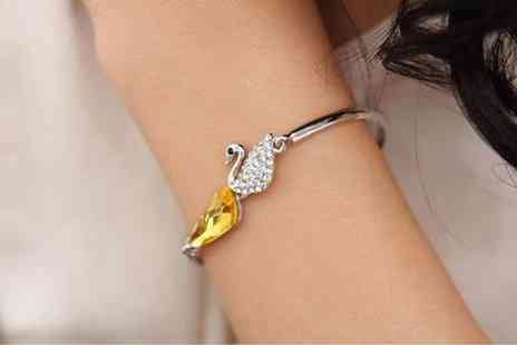 Pikn Buy - White Gold Plated Swan Bracelet - Save 93%