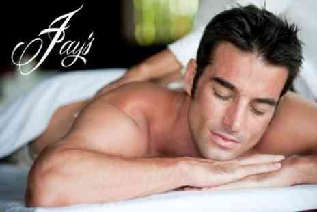 Jay's Male Grooming - Back and Shoulder Massage Plus Luxury Manicure or Pedicure - Save 51%