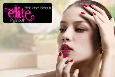 Elite Hair and Beauty - Shellac Manicure and Pedicure - Save 50%