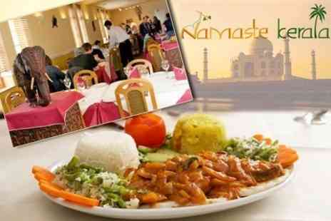 Namaste Kerala - Three Course South Indian Set Meal For Two With Sides and Wine - Save 55%