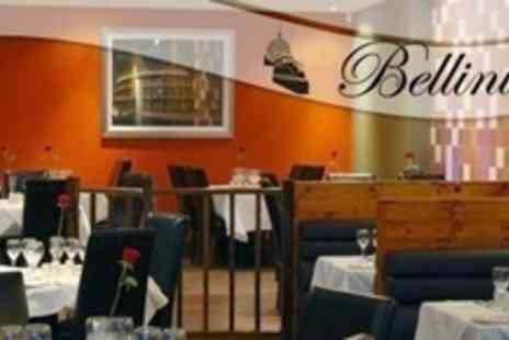 Bellini's Italian Restaurant - Three Courses of Italian Fare With Wine For Two - Save 57%