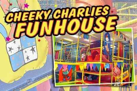 Cheeky Charlies Funhouse - Soft Play Entry For Four Children and Two Adults With Meal For Kids - Save 55%